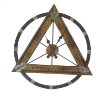 Triangle Wood Ruler Wall Clock, Wb, Wb