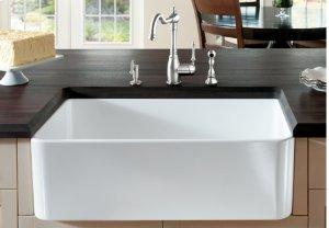 "Blanco Cerana® II 33"" Single Bowl With Apron - White"