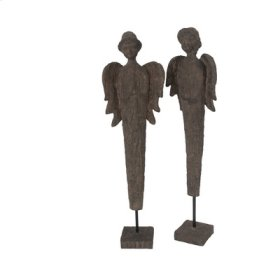 75009  S/2 Polyresin Boy & Girl Angels 2S/CTN