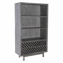 Raven Wide Tall Shelf Old Gray