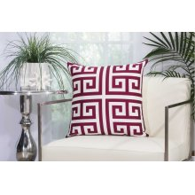 "Outdoor Pillow As047 Lilac 20"" X 20"" Throw Pillow"