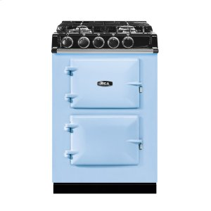 "AGAAGA City 24"" Electric/Natural Gas Duck Egg Blue with Stainless Steel trim"