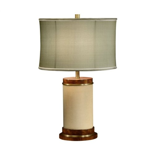 Ivory Finish Hyedua Circular Table Lamp