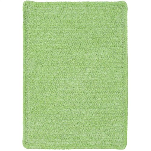 Lime Green Chenille Creations Cross Sewn Rectangle