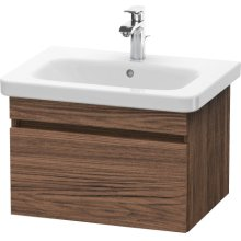 Vanity Unit Wall-mounted, Walnut Dark Decor