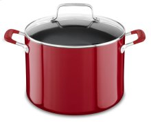 Aluminum Nonstick 8.0-Quart Stockpot with Lid - Empire Red