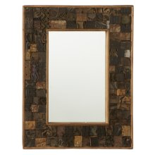 Repurposed Block Print Wall Mirror (Each One Will Vary)