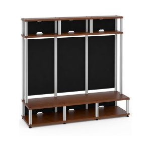 Salamander DesignsSynergy 10 Triple-Width Hutch Extension Module, Cherry with Aluminum Posts