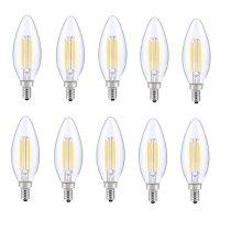 LED E12 CANDELABRA, BLUNT TIP, 2700K, 300, CRI80, ES, UL, 6W, 40W EQUIVALENT, 15000HRS, LM480, DIMMABLE, 2 YEARS WARRANTY, INPUT VOLTAGE 120V