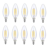 LED E12 CANDELABRA, BLUNT TIP, 2700K, 300, CRI80, ES, UL, 6W, 40W EQUIVALENT, 15000HRS, LM480, DIMMABLE, 2 YEARS WARRANTY, INPUT VOLTAGE 120V