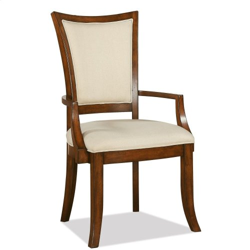 Windward Bay - Xx-back Upholstered Arm Chair - Warm Rum Finish