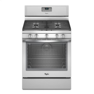 5.8 Cu. Ft. Freestanding Gas Range with Center Burner - WHITE ICE