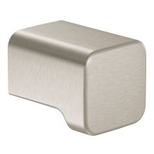 90 Degree brushed nickel drawer knob