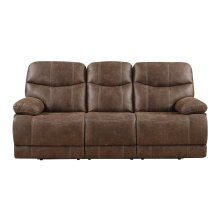 Emerald Home Earl Power Sofa Sanded Micro Brown U7128-18-25