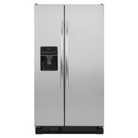 Amana® 25.5 cu. ft. Side-by-Side Refrigerator with Energy Efficiency and Money Savings - stainless_steel