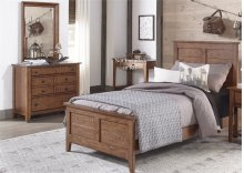 Full Panel Bed, Dresser & Mirror