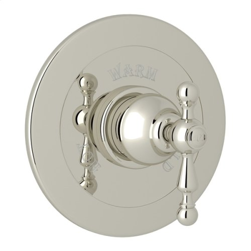 Polished Nickel Arcana Integrated Volume Control Pressure Balance Trim Without Diverter with Arcana Series Only Ornate Metal Lever
