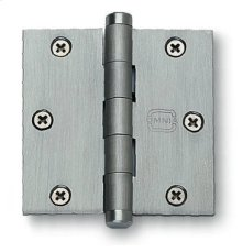Plain Bearing, Full Mortise Hinge - Solid Extruded Brass in SB (Shaded Bronze, Lacquered)