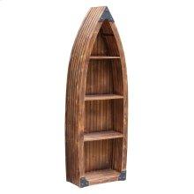 Mountain View Rustic Wood Canoe 3 Shelf Bookcase