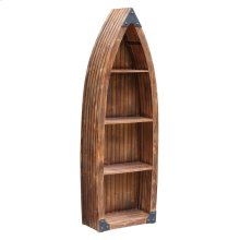 Mountain View Rustic Wood Canoe 3 Shelf Bookcase