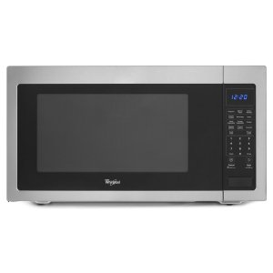 2.2 cu. ft. Countertop Microwave with Greater Capacity - BLACK-ON-STAINLESS