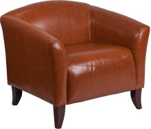 HERCULES Imperial Series Cognac Leather Chair