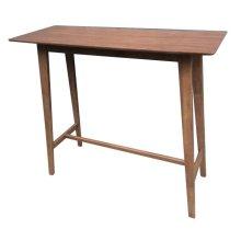 Mid-century Natural Walnut Bar Table