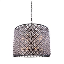 """1204 Madison Collection Chandelier D:35.5"""" H:28"""" Lt:12 Mocha Brown Finish (Royal Cut Crystals)"""