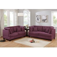 F6403 / Cat.19.p38- 2PCS SOFA SET WARM PURPLE