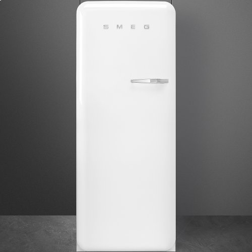 50'S Style Refrigerator with ice compartment, White, Left hand hinge
