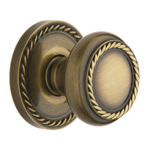 Satin Brass and Black 5064 Estate Knob