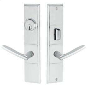 Satin Chrome Houston Escutcheon Entrance Set