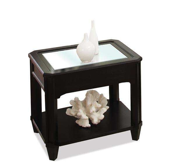 Additional Farrington Rectangular Glass Top Side Table Black Forrest Birch  Finish ...