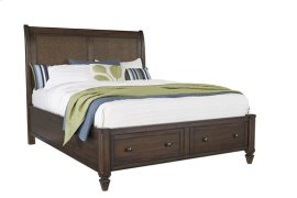 5/0 Queen Storage Bed - Sable Finish