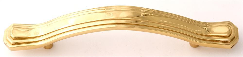 Geometric Pull A1517-35 - Polished Brass