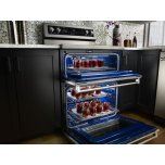 Kitchenaid 30-Inch 5 Burner Electric Double Oven Convection Range - Stainless Steel