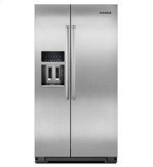 24 Cu. Ft. Counter-Depth Side-by-Side Refrigerator - Stainless Steel