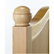 Round Finials (4pcs) : Natural