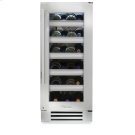15 Inch Stainless Glass Door Wine Cabinet - Left Hinge Stainless Glass Product Image