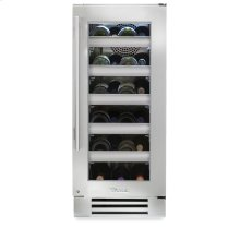 15 Inch Stainless Glass Door Wine Cabinet - Right Hinge Stainless Glass