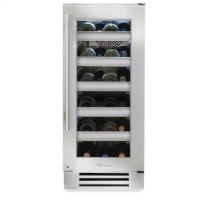 True Residential15 Inch Stainless Glass Door Wine Cabinet - Left Hinge Stainless Glass