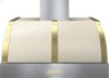 Hood DECO 36'' Cream matte, Gold 1 blower, electronic buttons control, baffle filters