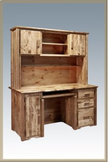 Homestead Desk with Hutch - Stained and Lacquered