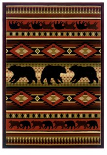 Contours/jq Native Bear Terracot Rugs