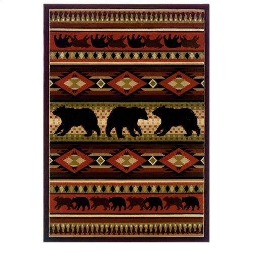 Contours/jq Native Bear Terracot Rugs