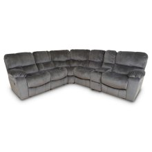 Ramsey Steel Gray Recliner Sectional, M6054