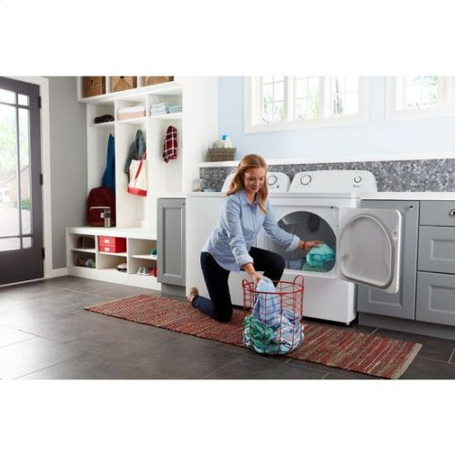 6.5 cu. ft. Electric Dryer with Wrinkle Prevent Option - white