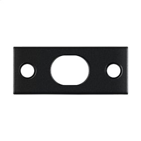 Strike Plate For Extension Flush Bolt - Paint Black