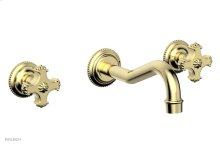 MARVELLE Wall Tub Set - Blade Handles 162-56 - Polished Brass