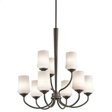 Aubrey Collection Aubrey 9 Light Chandelier - Olde Bronze OZ
